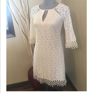 Adrianna Papell off-white lace dress size 0P